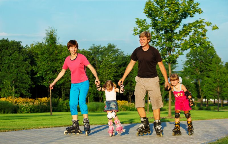 Почему полезно кататься на роликовых коньках?